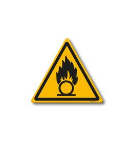 safety-signs.nl W028 - Waarschuwing oxiderende stoffen