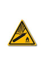 safety-signs.nl Pictogram - W029 - Waarschuwing gashouders onder druk - ISO 7010