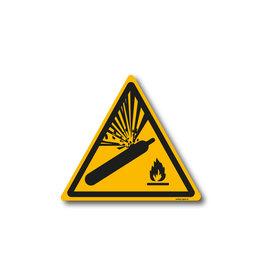safety-signs.nl W029 - Waarschuwing gashouders onder druk