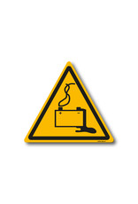 safety-signs.nl Pictogram - W026 - Waarschuwing gevaar door laden van accu's - ISO 7010