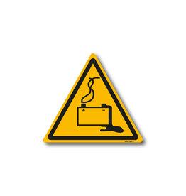 safety-signs.nl W026 - Waarschuwing gevaar door laden van accu's