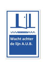 Sticker - Wacht achter de lijn