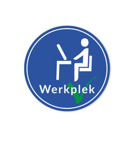 Sticker Werkplek 20 cm