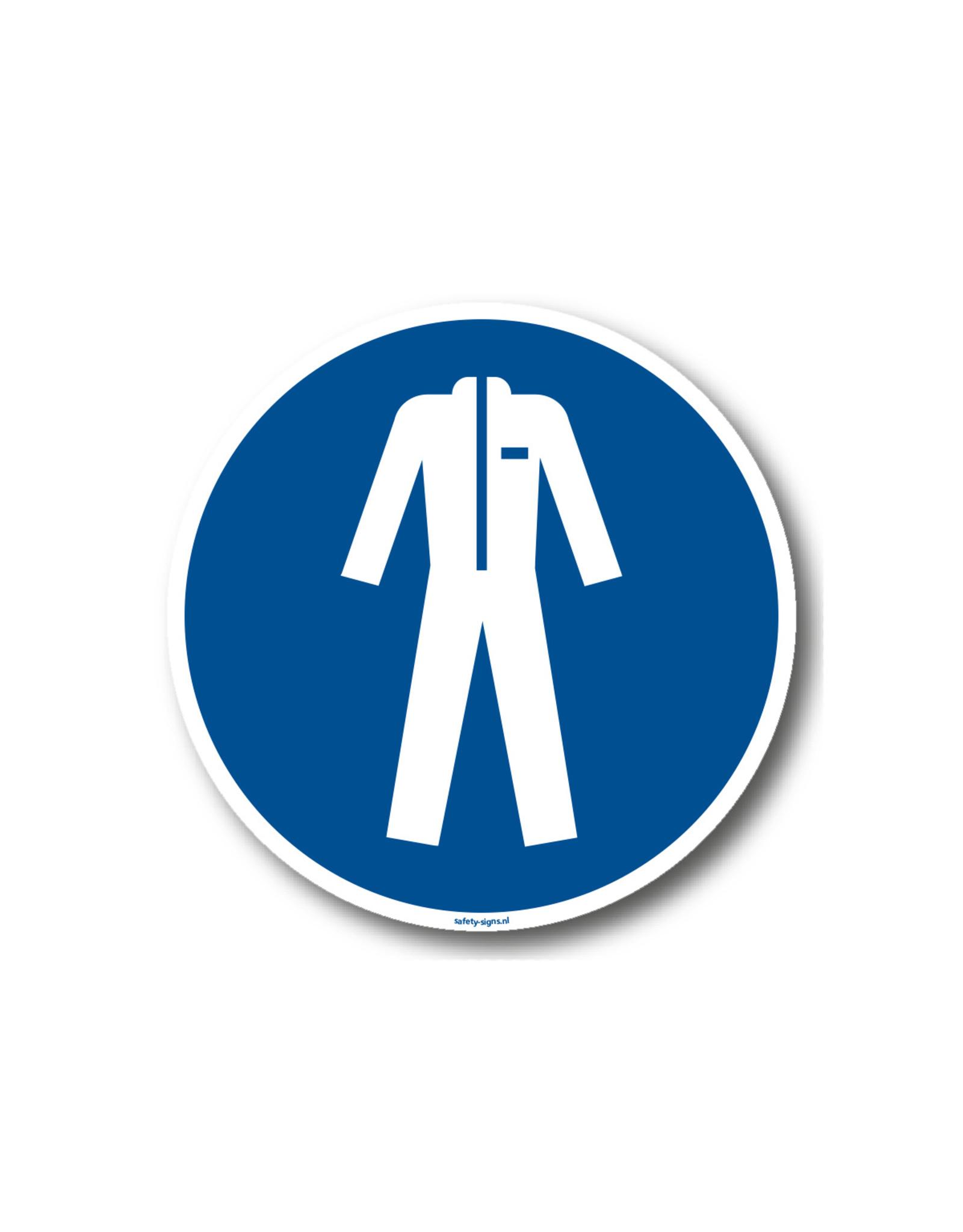 BrouwerSign Gebod - Dragen van beschermende kleding verplicht