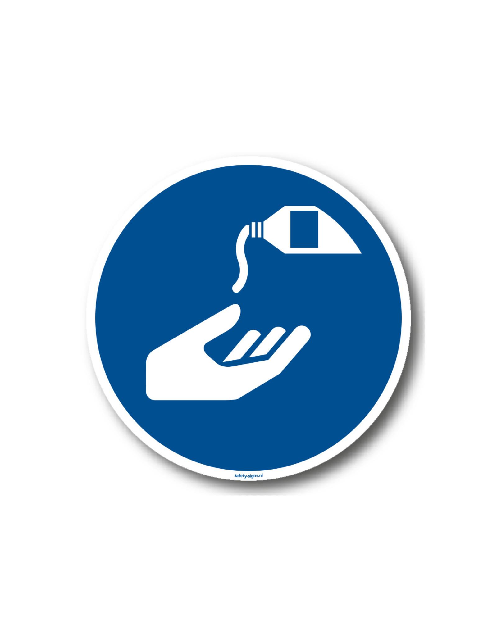 BrouwerSign Gebod - Gebruik desinfecterende handgel verplicht