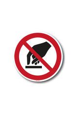 safety-signs.nl Verbod - Aanraken verboden ivm besmettingsgevaar