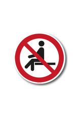 safety-signs.nl Verbod - Verboden te zitten ivm afstand bewaren
