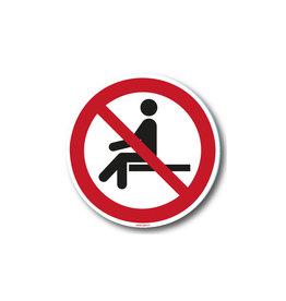 safety-signs.nl Verbod - Verboden te zitten