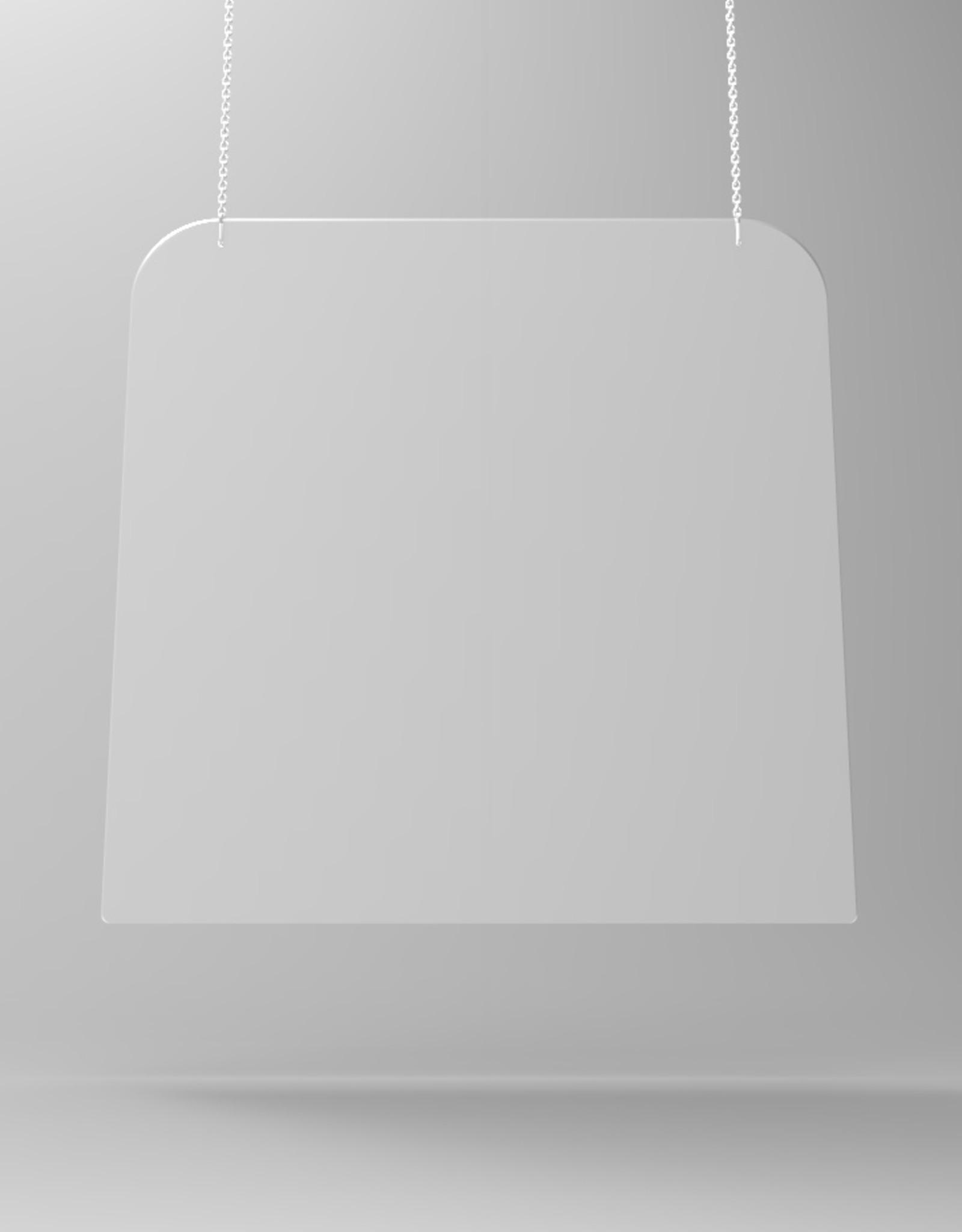 SaveScreen hangscherm glashelder 80x80cm