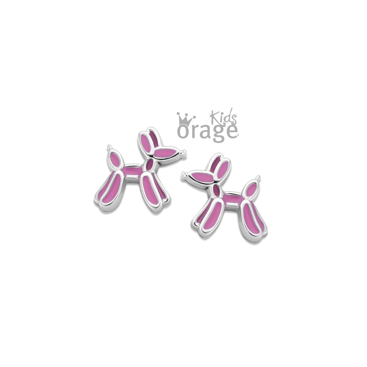 Orage kids Oorringen ballon hond roze