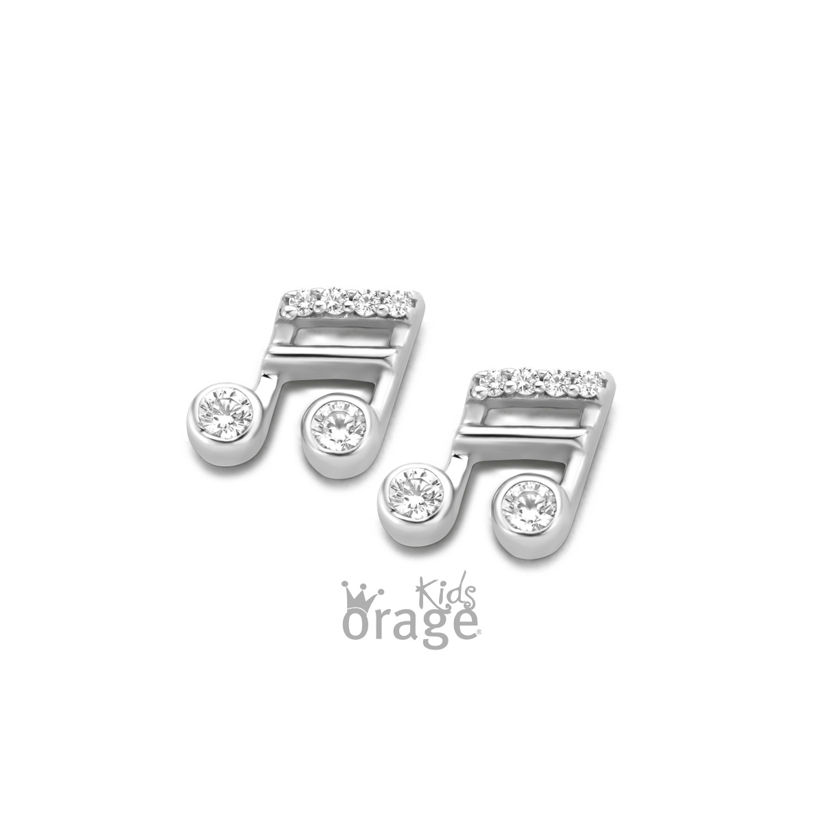 Orage kids Oorringen muzieknoot 925 rh cz