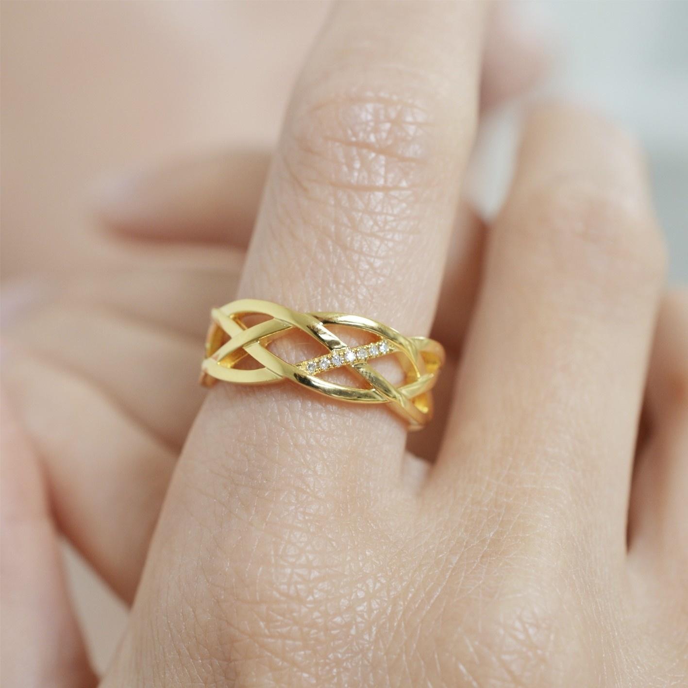 Diamanti per tutti Braid Ring
