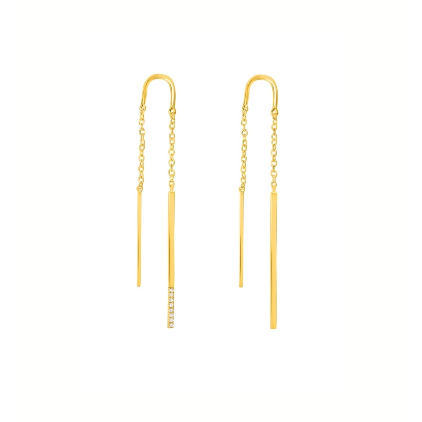 Diamanti per tutti Diamanti per tutti - Double Linea Earring