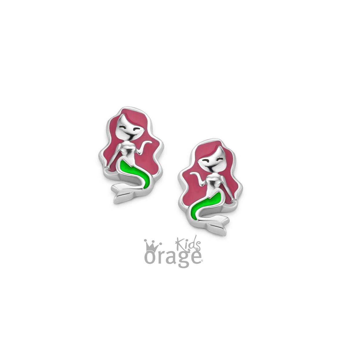 Orage kids Oorringen zeemeermin 925