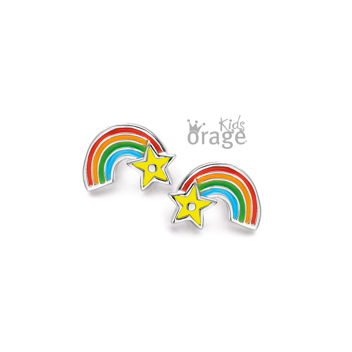 Orage kids Oorringen regenboog 925 rh