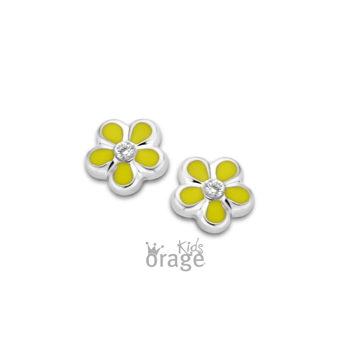 Orage kids Oorringen bloem geel