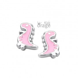 Orage kids Oorringen dinosaurus roze 925 rh