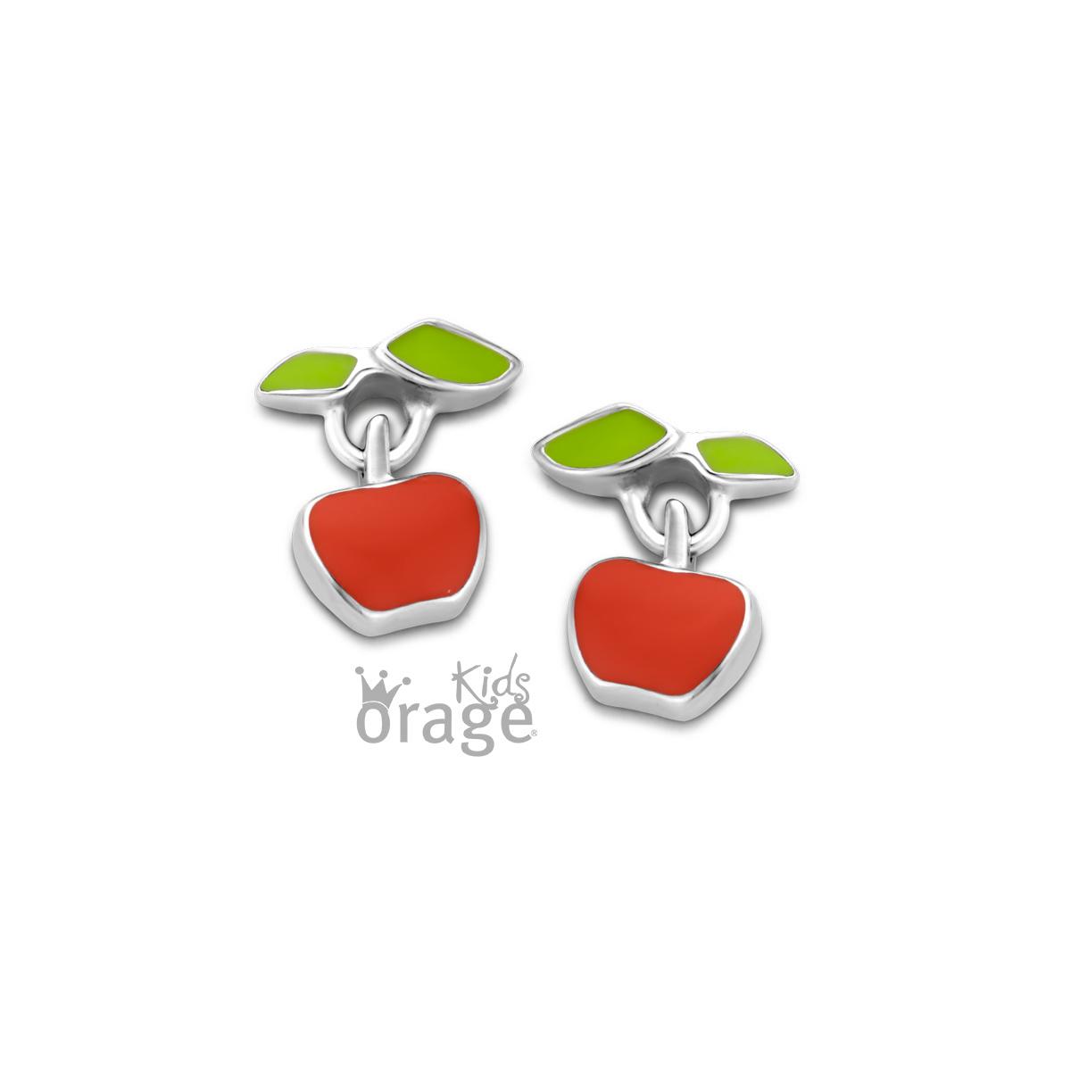 Orage kids Oorringen appel rood