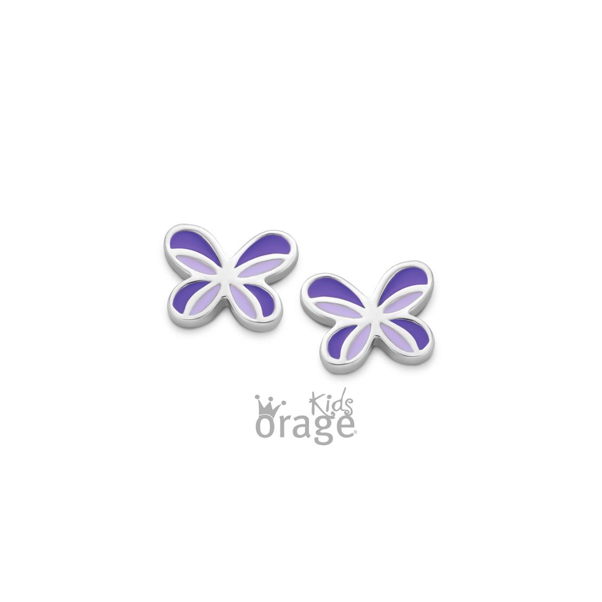 Orage kids Oorringen vlinder paars