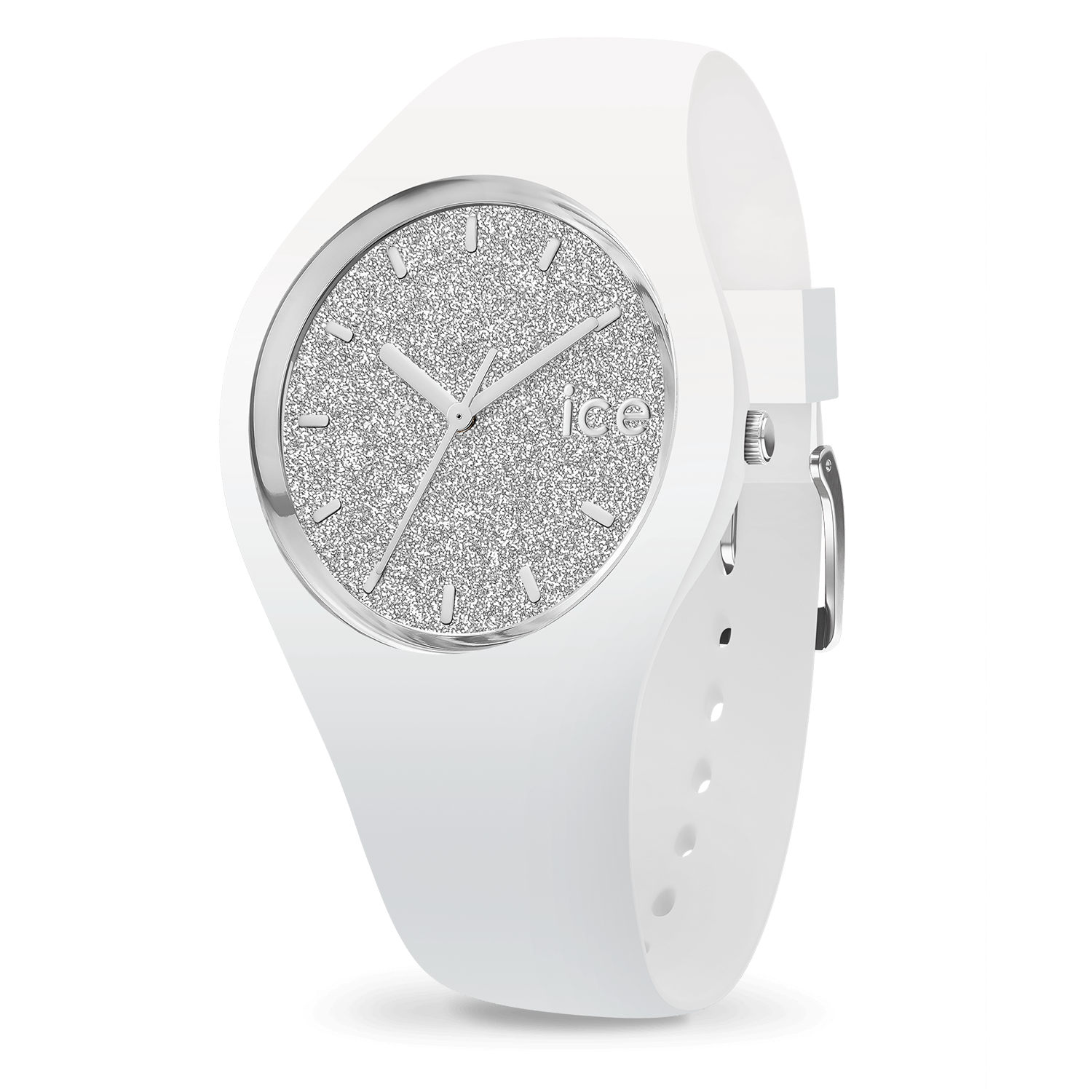 Ice Watch ICE glitterWhite Silver medium