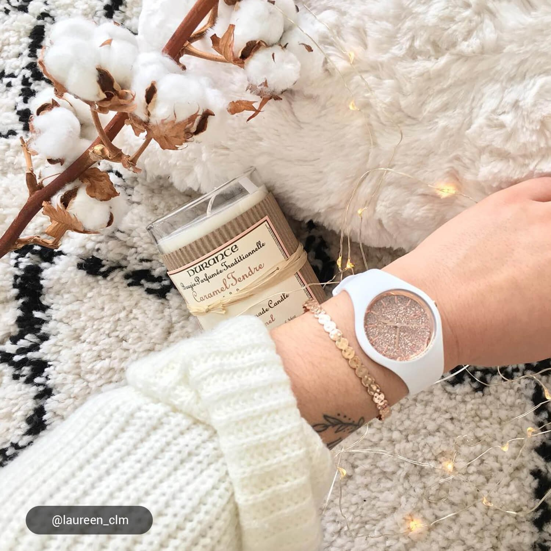 Ice Watch ICE glitterWhite Rose-Gold medium