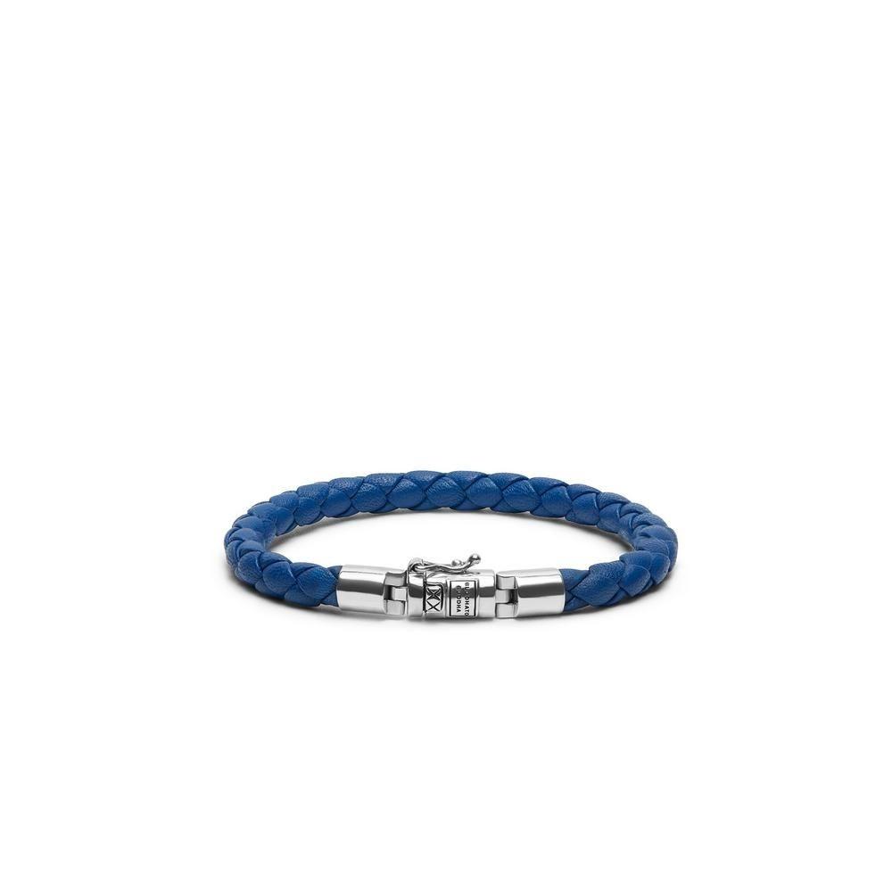 Bhuddha To Buddha Armband Ben XS Rond Leer Blauw