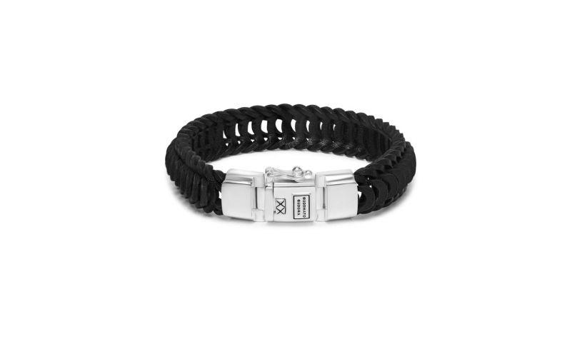 Bhuddha To Buddha Lars Leather Bracelet Black