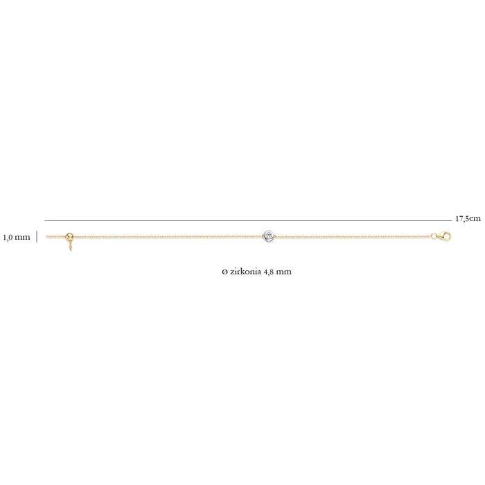 Blush Blush Armband 2167BZI - Geel en Wit Goud (14Krt.) met Zirconia