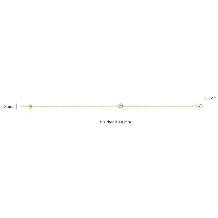 Blush Blush Armband 2166YZI - Geelgoud (14Krt.) met Zirconia