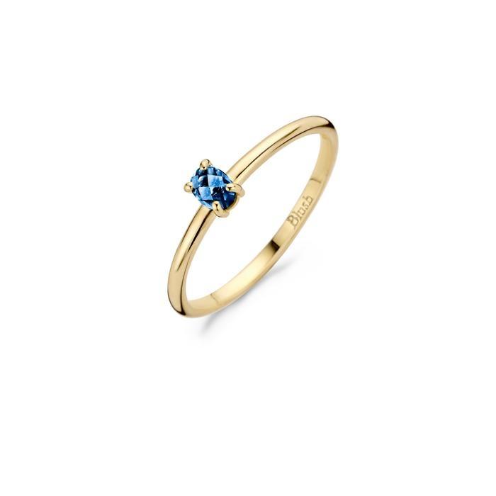 Blush Blush Ring 1204YLB - Geelgoud met Blue Topas (14krt.)