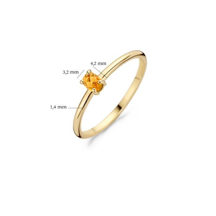 Blush Blush Ring 1204YCI - Geelgoud met Citrine (14krt.)