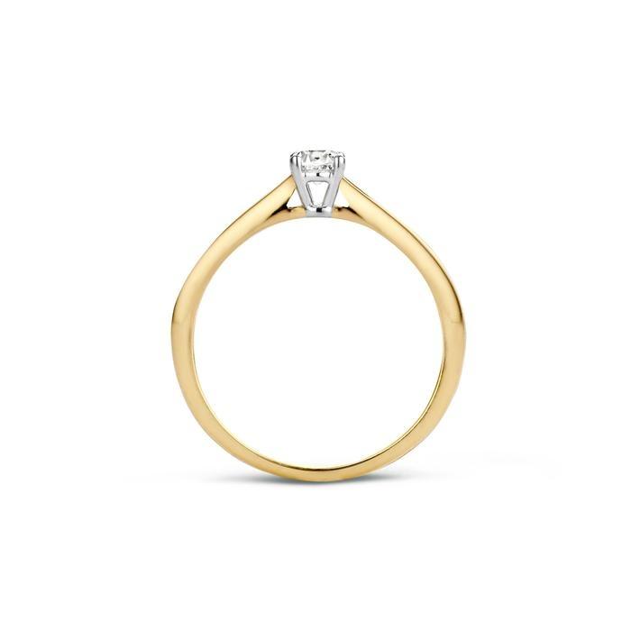 Blush Blush Ring 1187BZI - Geel en Wit Goud (14Krt.) met Zirkonia