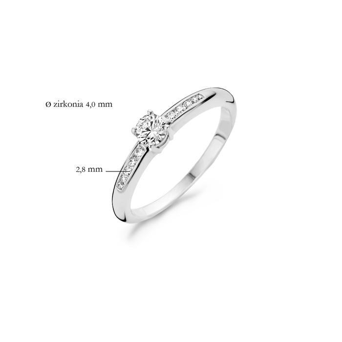 Blush Blush Ring 1155WZI - Wit Goud (14Krt.) met Zirconia