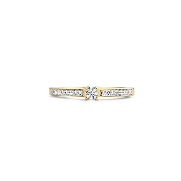Blush Blush Ring 1145BZI - Geel en Wit Goud (14Krt.) met Zirconia