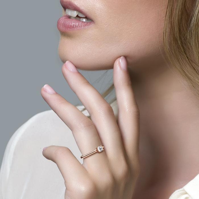 Blush Blush Ring 1133RZI - Rosé Goud (14Krt.) met Zirconia