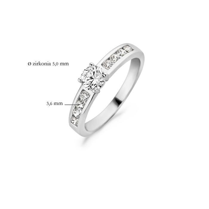 Blush Blush Ring 1126WZI - Wit Goud (14Krt.) met Zirconia