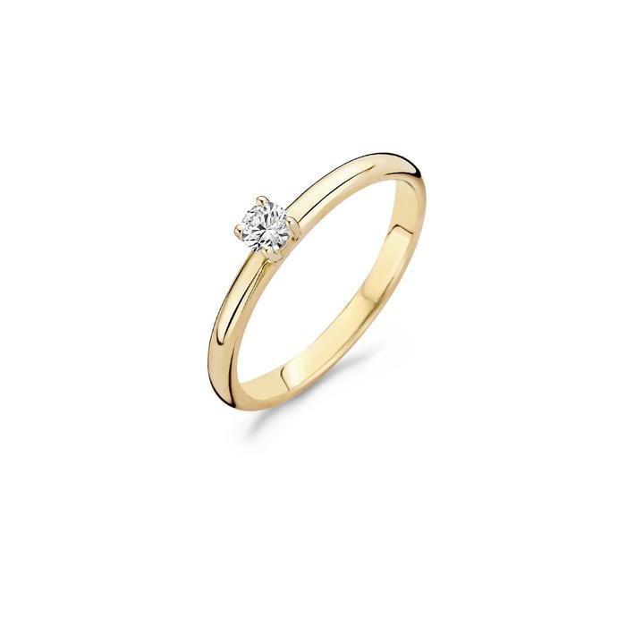 Blush Blush Ring 1112YZI - Geel Goud (14Krt.) met Zirconia