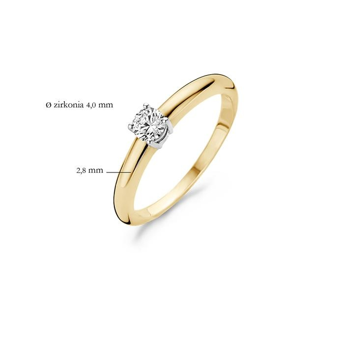 Blush Blush Ring 1067BZI - Geel en Wit Goud (14Krt.) met Zirconia