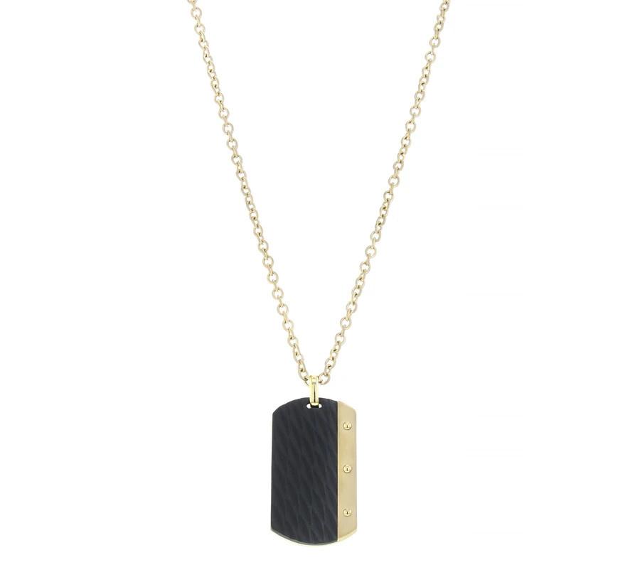 AZE jewels Necklace Dogtag - Dore
