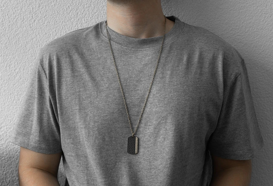 AZE jewels Necklace Dogtag - Inox