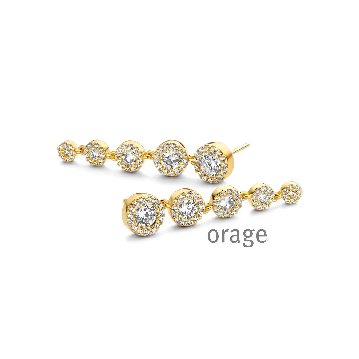 Orage AR135 Oorslingers verguld geel goud cz