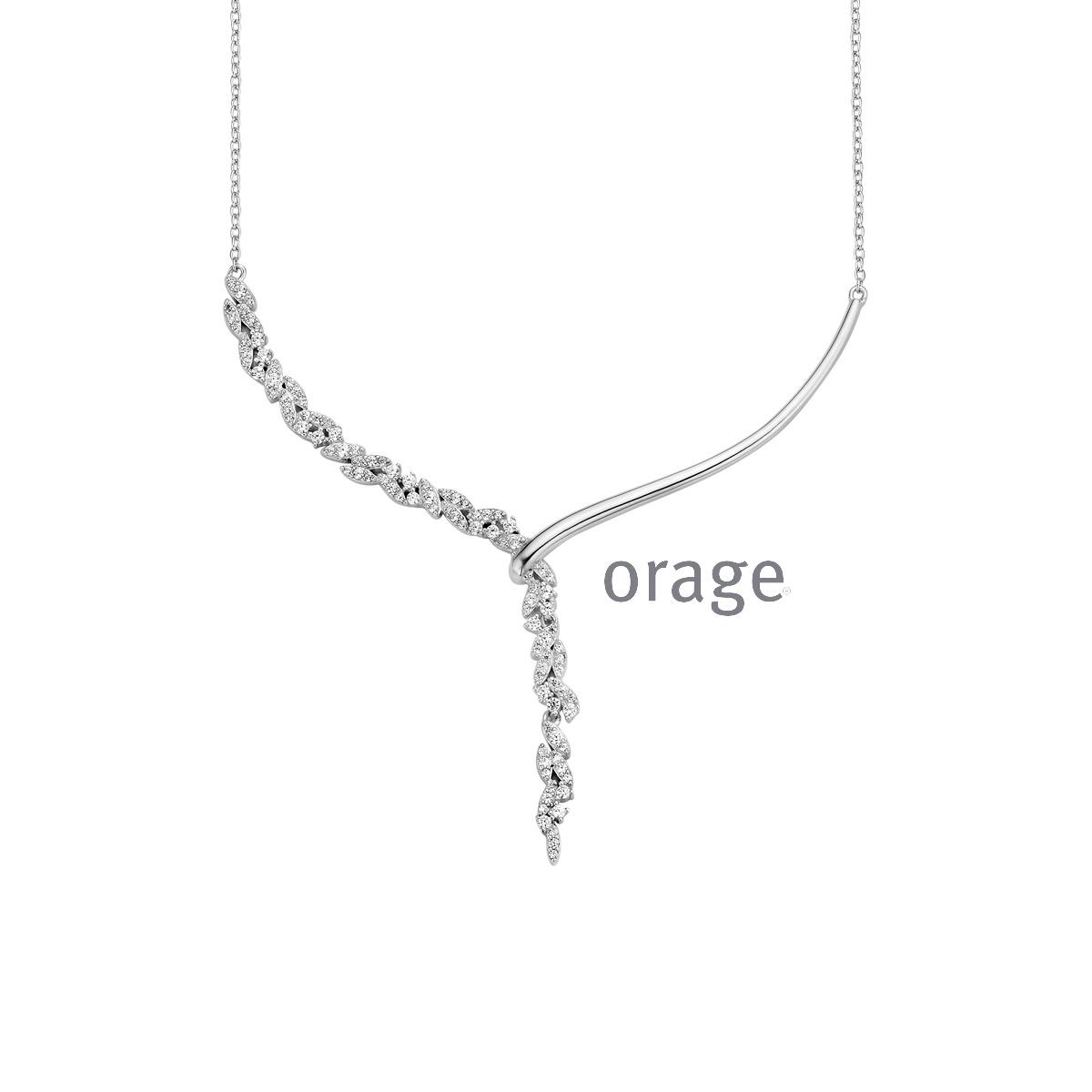 Orage AR112 zilver collier