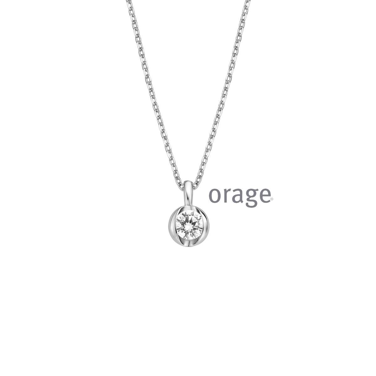 Orage AR032 hanger zilver zircoon