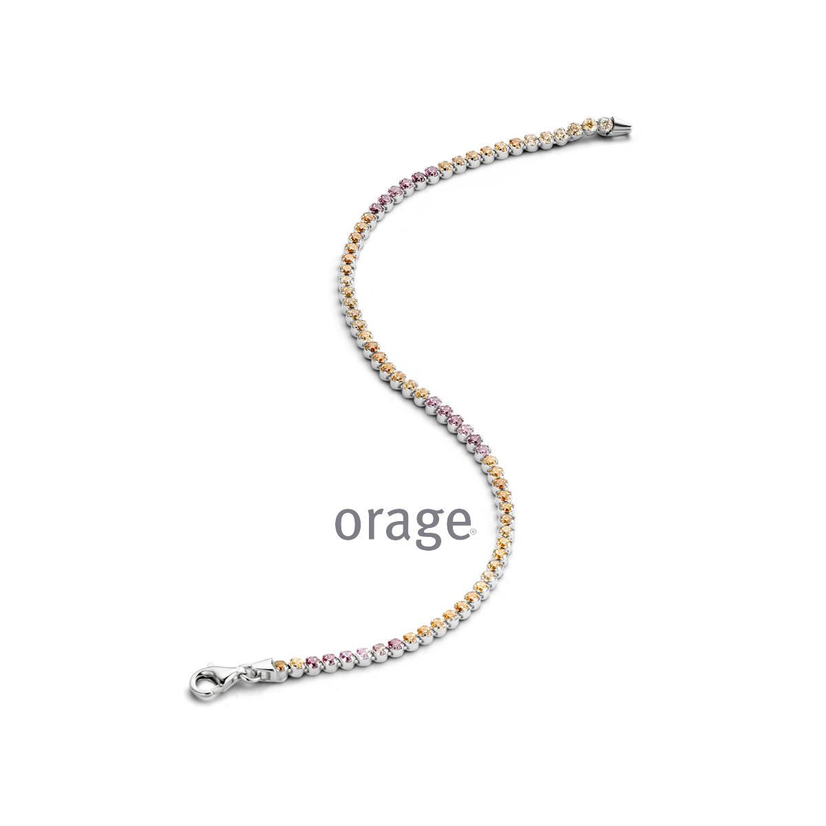 Orage AR029 armband zilver multicolor