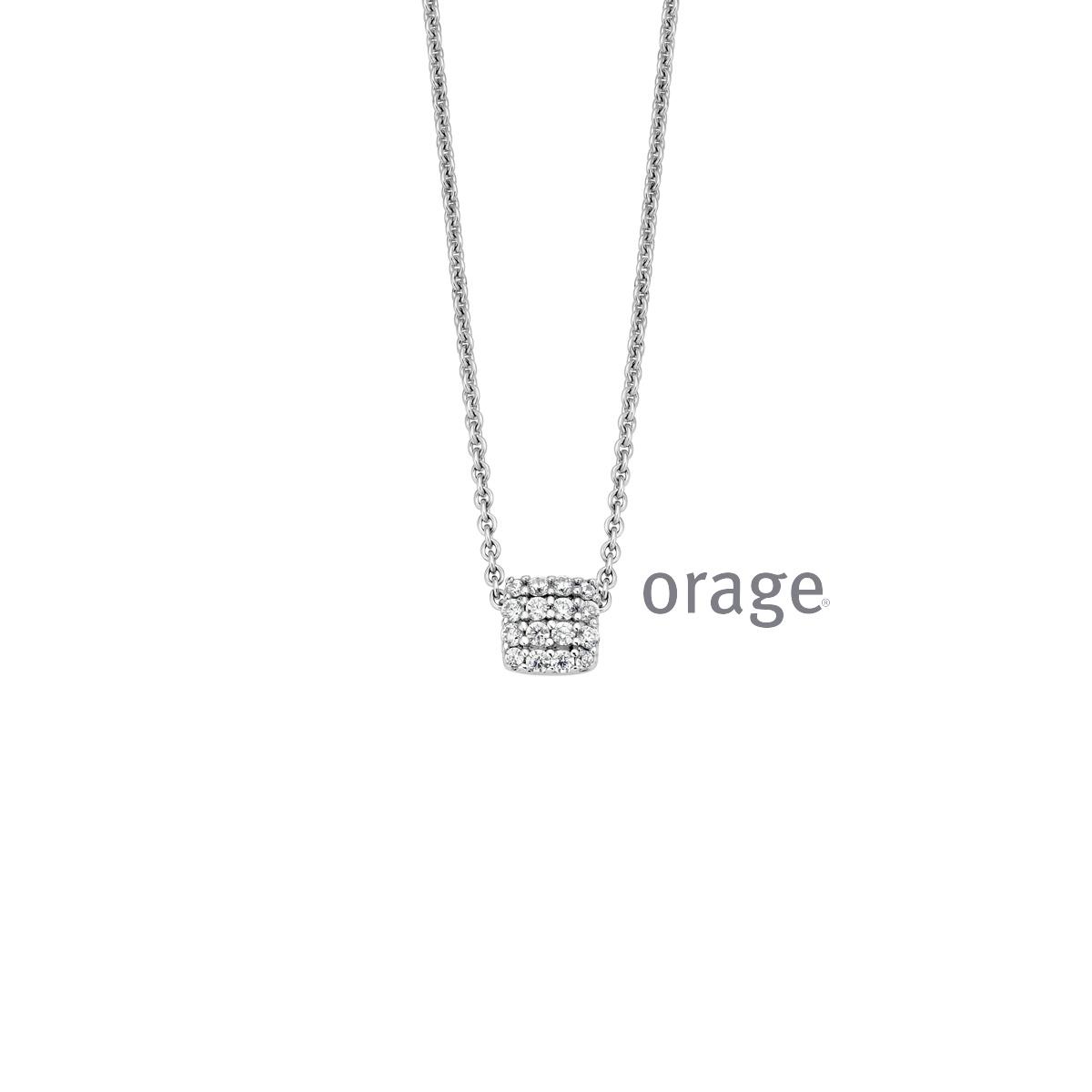 Orage AR034 ketting zilver
