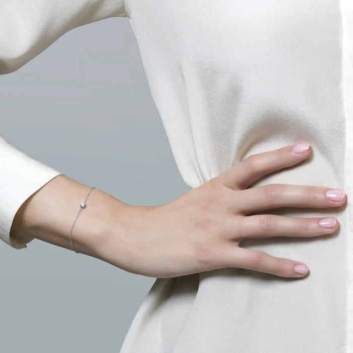 Blush Blush Armband 2166WZI - Witgoud (14Krt.) met Zirconia