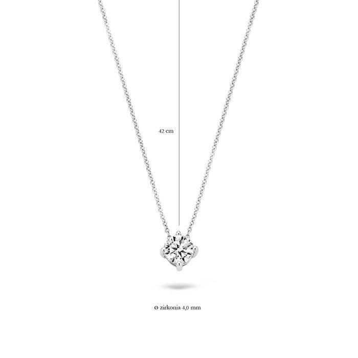 Blush Blush Ketting 3057WZI - Wit Goud (14Krt.) met Zirconia