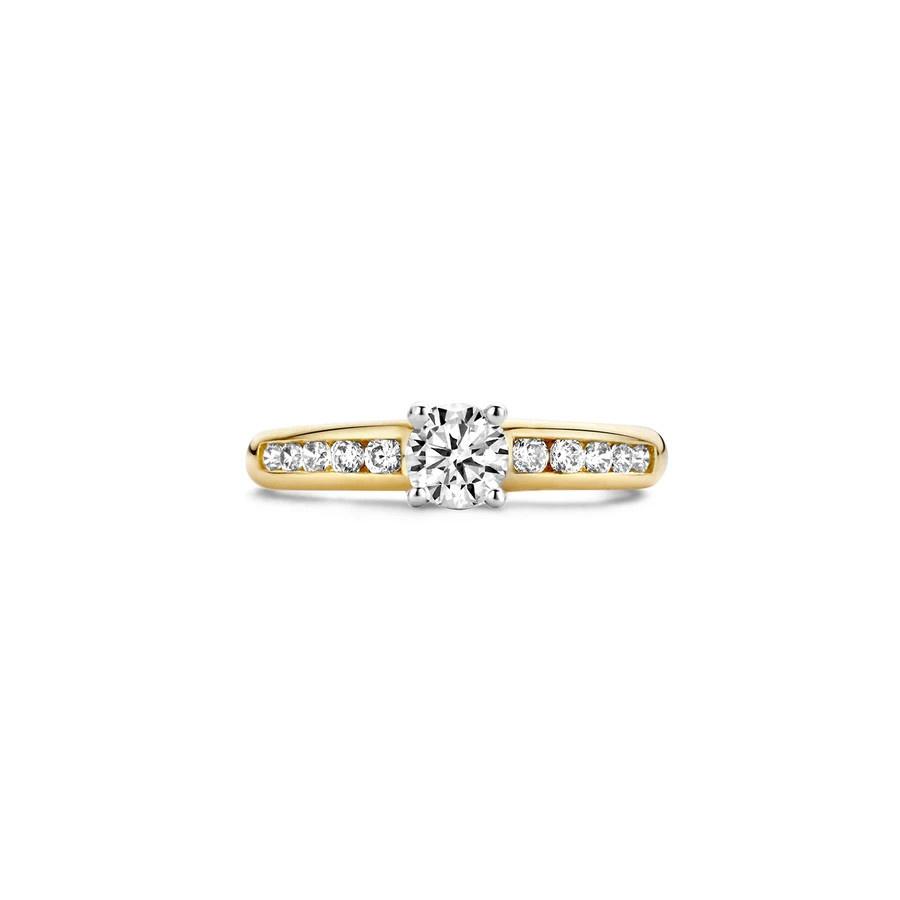 Blush Blush Ring 1154BZI - Geel en Wit Goud (14Krt.) met Zirconia