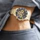 Ice Watch ICE steel - Gold blue - Chrono