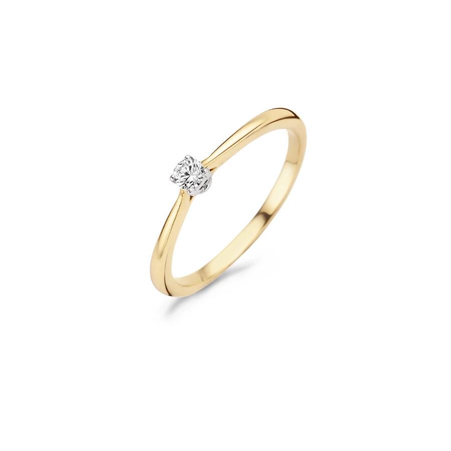 Blush Blush Ring 1186BZI - Geel en Wit Goud (14Krt.) met Zirkonia
